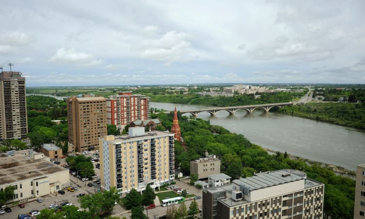 Bridge in Saskatoon near Saskatoon Tower