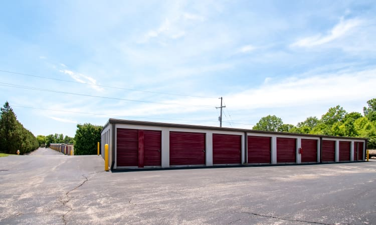Easily accessible storage at Storage Inns of America in Centerville, OH