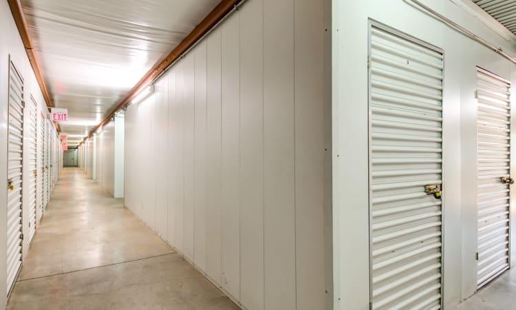 Hallway of units at Storage Inns of America in Miamisburg, Ohio