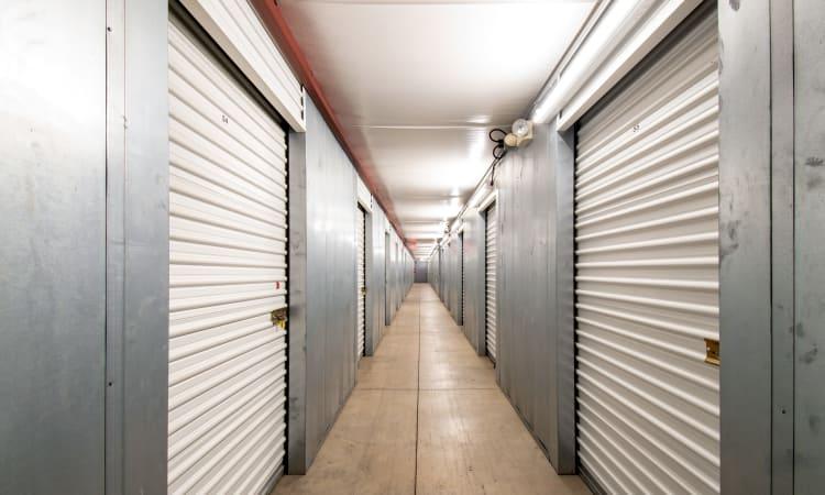Hallway of units at Storage Inns of America in Dayton, Ohio