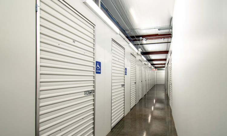 Interior storage units that are ADA accessible at Storage Inns of America