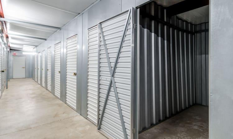 Hallway of units at Storage Inns of America in Huber Heights, Ohio