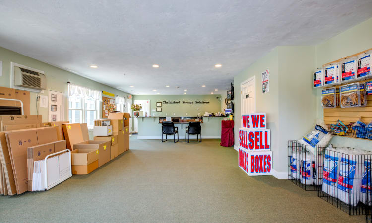 View of our lobby at Chelmsford Storage Solutions