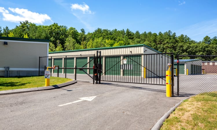 Gated facility at Maynard Storage Solutions