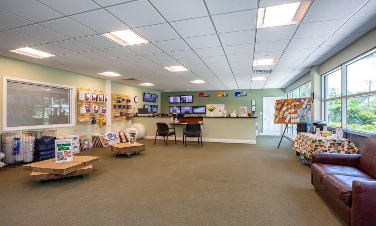 Lobby at Maynard Storage Solutions