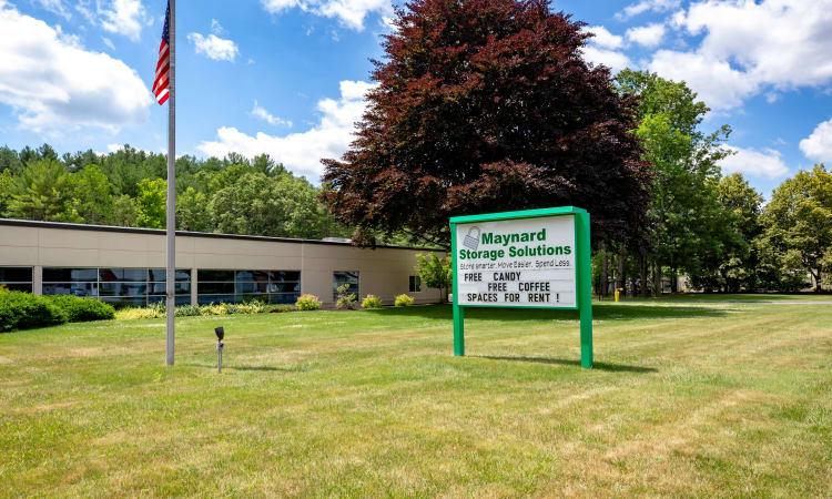 Signage at Maynard Storage Solutions