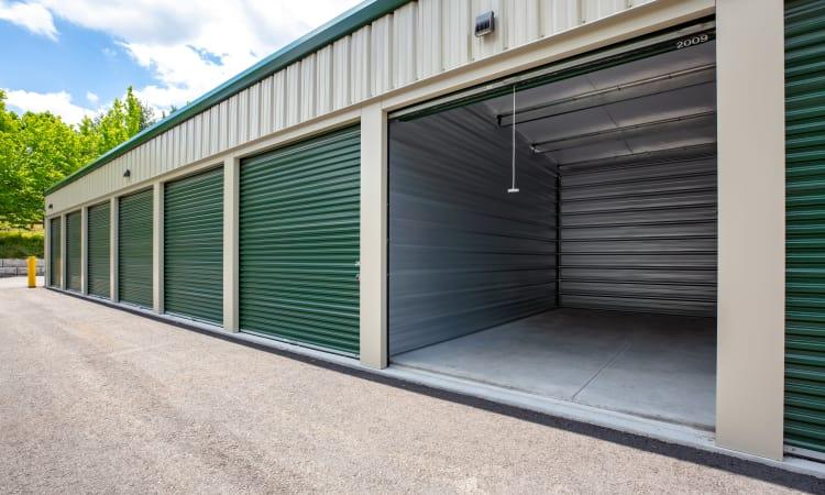 Drive up units at Maynard Storage Solutions