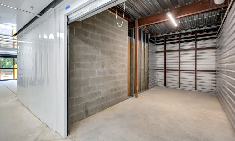 Interior shot of a storage unit at Kittery Storage Solutions in Kittery, Maine