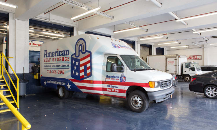 Van accessible covered loading area at American Self Storage in Bronx, New York