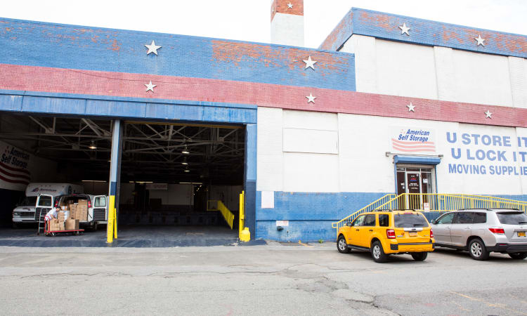 Exterior of American Self Storage in Long Island City, New York