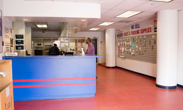 Leasing desk at American Self Storage in Long Island City, New York