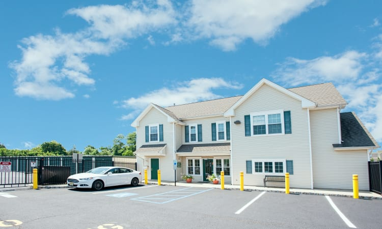 Ample parking at American Self Storage in West Long Branch, New Jersey