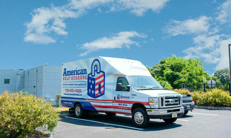 Moving truck at American Self Storage in West Long Branch, New Jersey