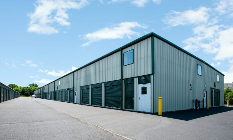 Drive-up units at American Self Storage in West Long Branch, New Jersey