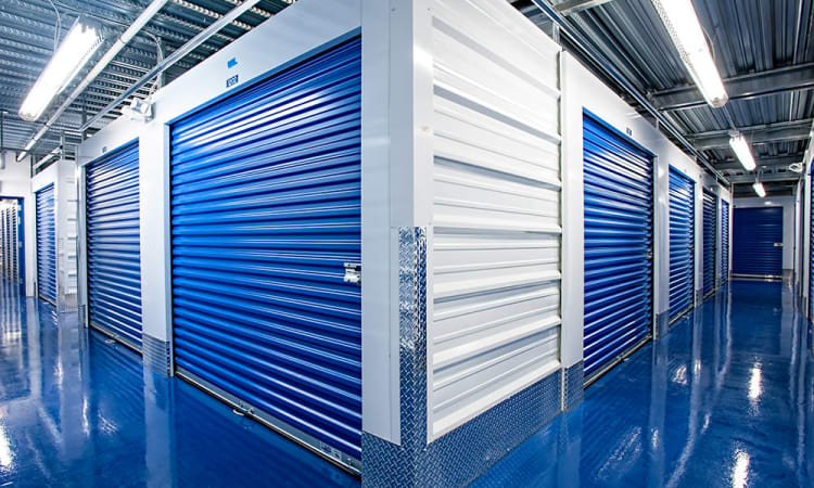 Corner Storage Unit at American Self Storage in Cliffwood, New Jersey