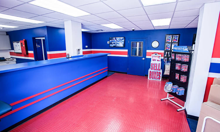 Lobby of American Self Storage in Cliffwood, New Jersey