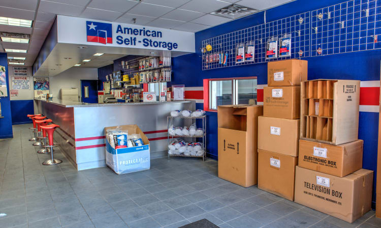 Storage Unit Boxes and Supplies at American Self Storage in Staten Island, New York