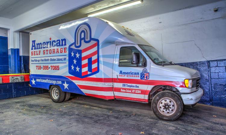 Self Storage Truck at American Self Storage in Staten Island, New York