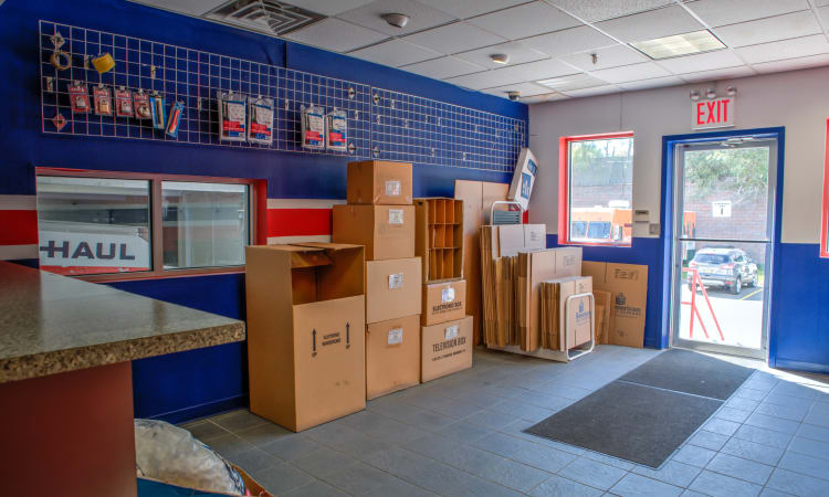 Supplies for sale at American Self Storage in Staten Island, New York
