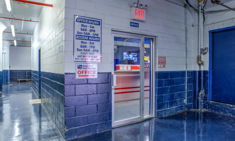 Self Storage Units entrance at American Self Storage in Staten Island, New York
