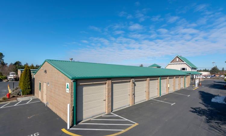 Island Security Self Storage has clean exterior storage units in Vashon, Washington