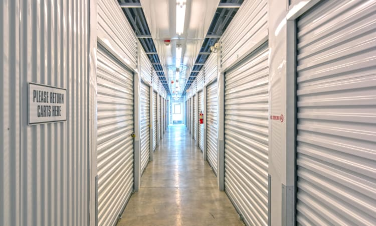 Island Security Self Storage in Vashon, Washington, interior storage units