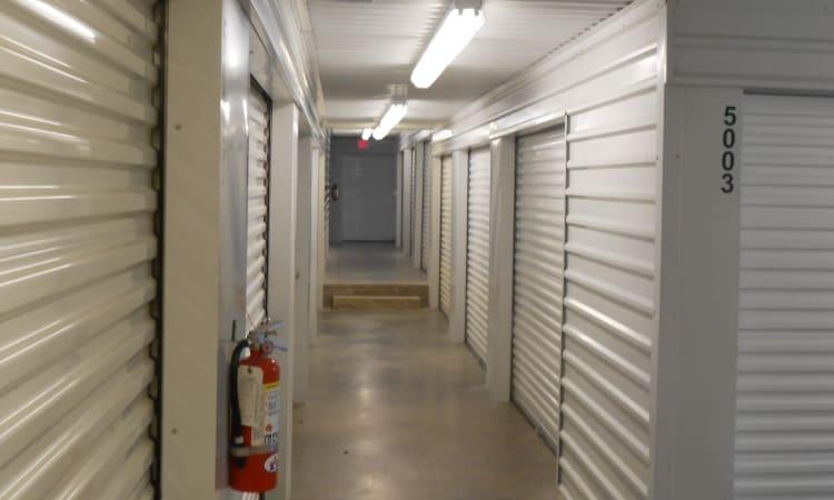 Aarons Self Storage 3 in Waco, Texas, indoor storage units for rent