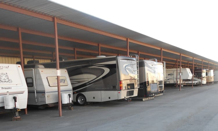 Ample RV storage at Aarons Self Storage 4 in Waco, Texas