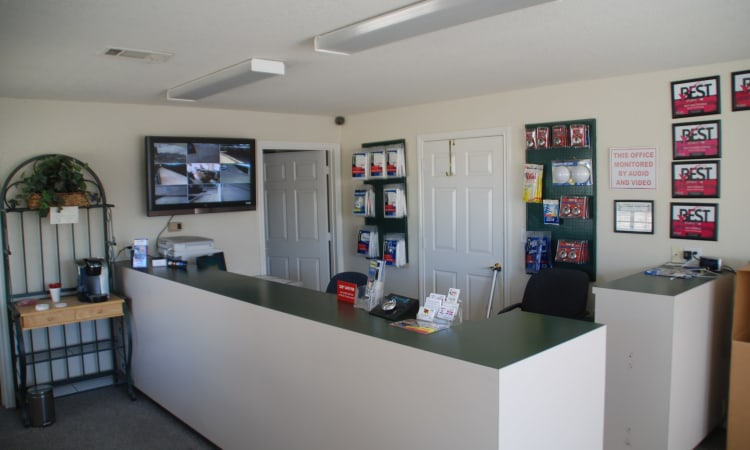 Office and supplies at Aarons Self Storage 2 in Waco, Texas