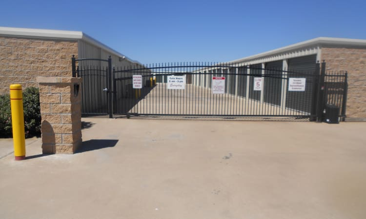 Aarons Self Storage 4 in Waco, Texas, is fully fenced