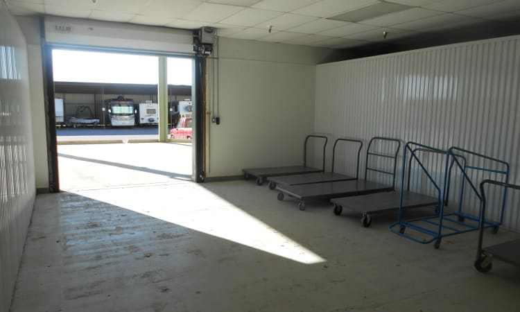 Carts available at Aarons Self Storage 5 in Waco, Texas