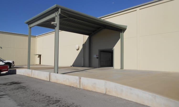 Convenient loading dock at Aarons Self Storage 5 in Waco, Texas