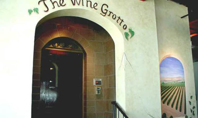 Entrance of The Wine Grotto in Pasadena, California