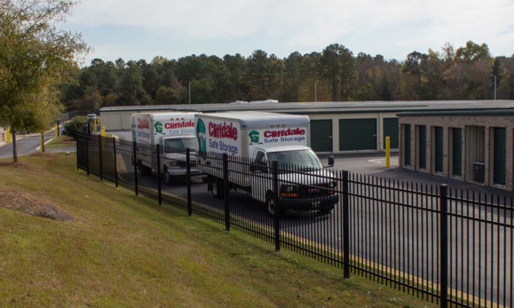 Rental trucks available at Cliffdale Safe Storage in Fayetteville, North Carolina