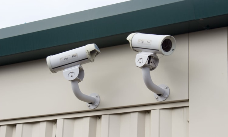 Security camera at Cliffdale Safe Storage in Fayetteville, North Carolina