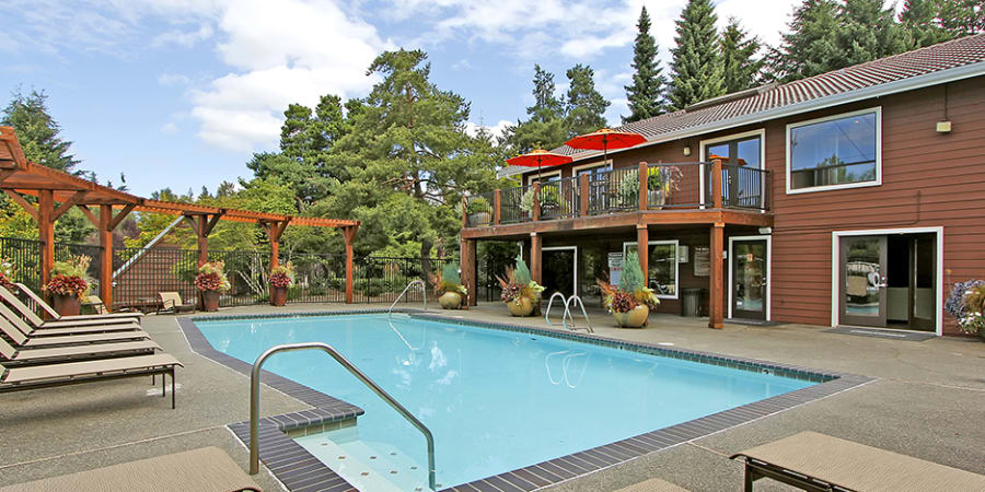 Pool at The Mill at Mill Creek Apartments
