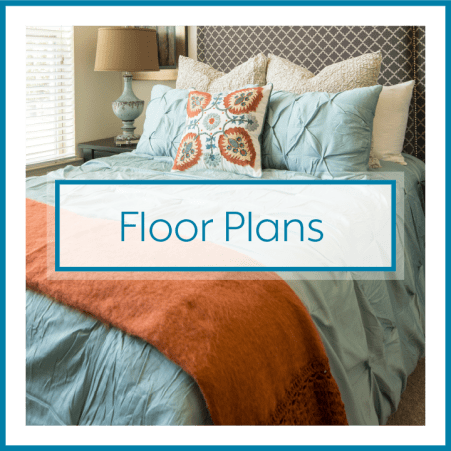 Floor plans call out at Town Village in Oklahoma City, Oklahoma