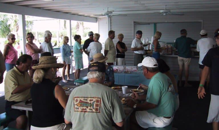 Clubhouse at Aquamarina Palm Harbour in Cape Haze, Florida