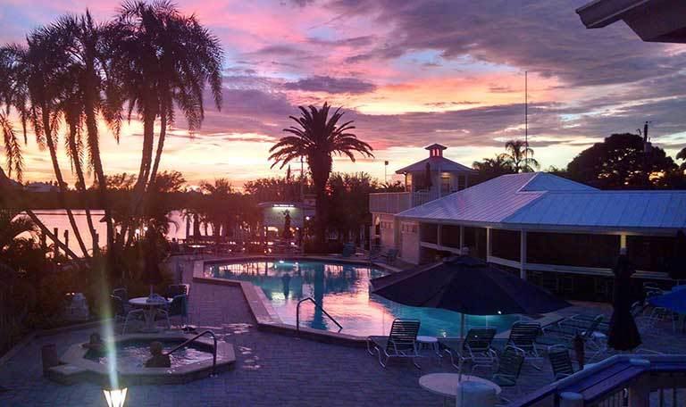 Sunset at Aquamarina Palm Harbour in Cape Haze, Florida
