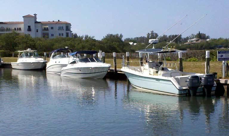 Boats at Aquamarina Palm Harbour in Cape Haze, Florida