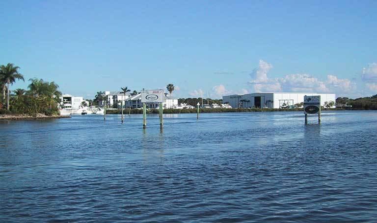 Easy access to the Atlantic Ocean at Aquamarina Palm Harbour in Cape Haze, Florida