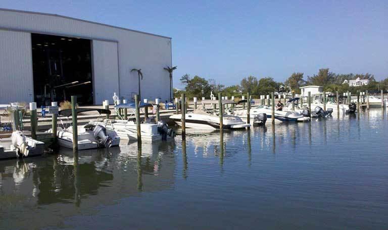 Wet slips at Aquamarina Palm Harbour in Cape Haze, Florida