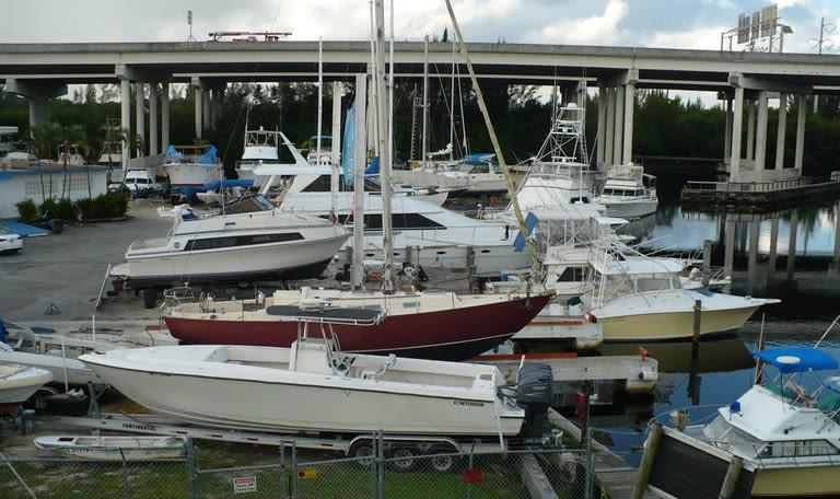 Dry dock at Marina Road Boat Yard in Ft. Lauderdale, Florida