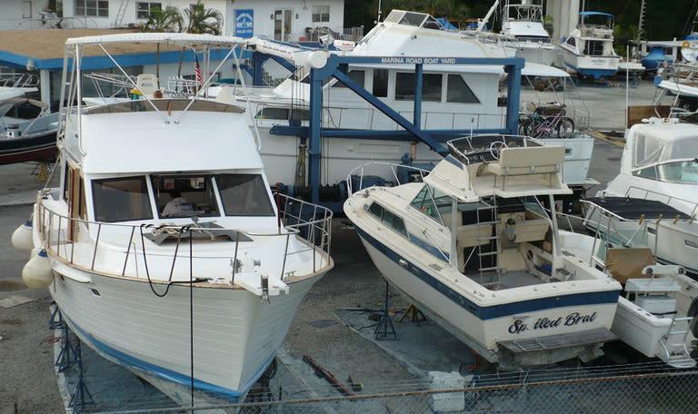 Boats at Marina Road Boat Yard in Ft. Lauderdale, Florida