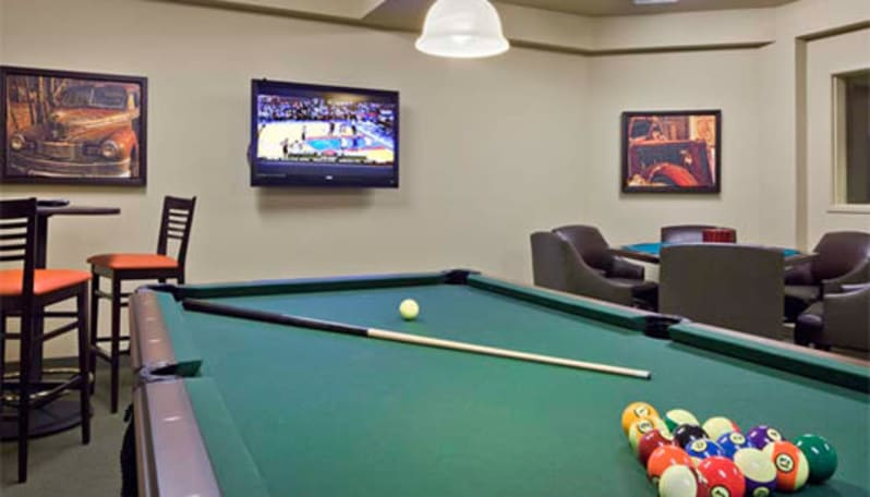 Billiards room at Affinity at Coeur d'Alene