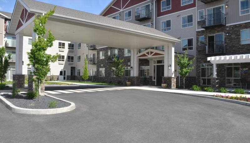 Drive up entrance at Affinity at Coeur d'Alene