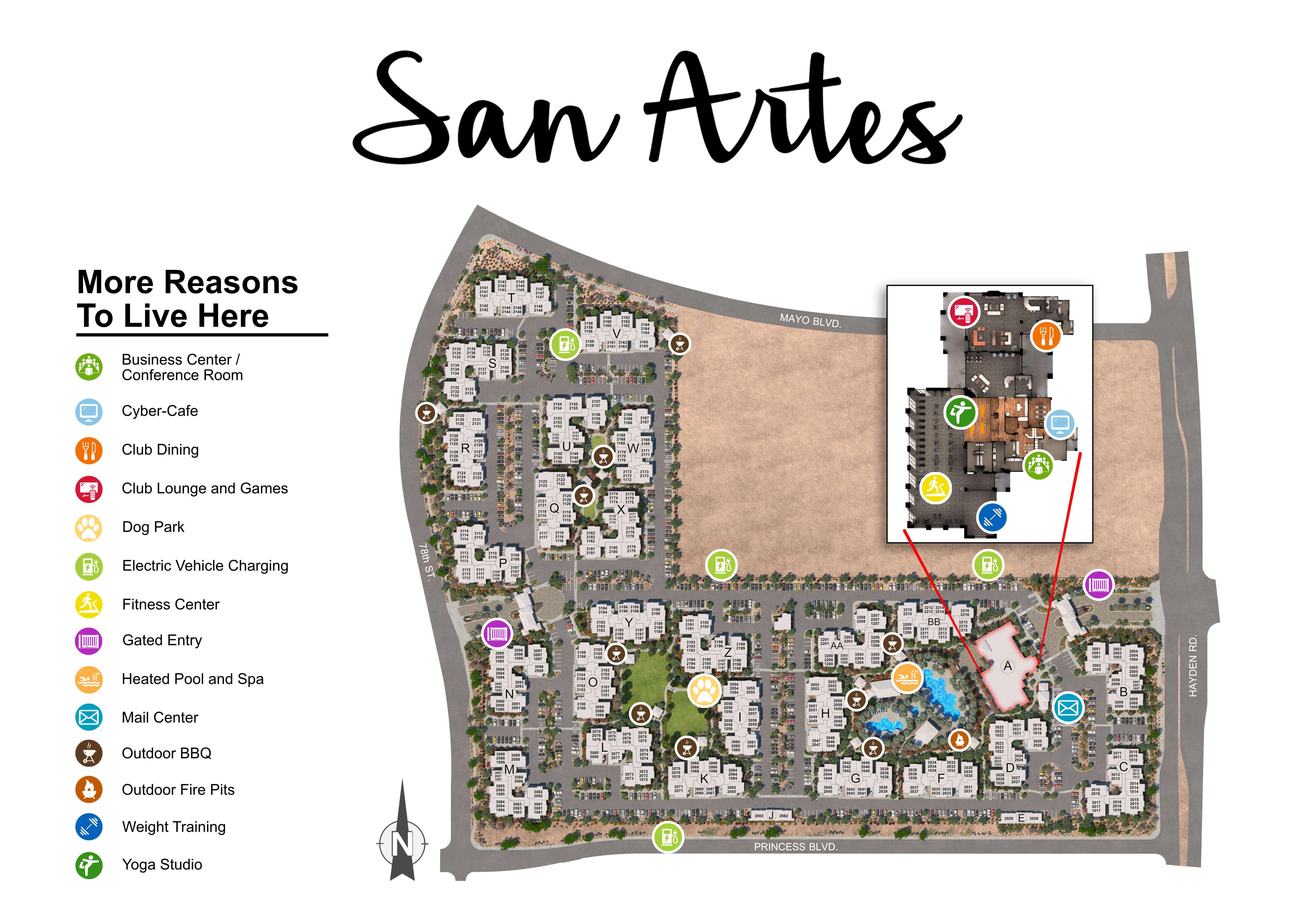 San Artes site plan