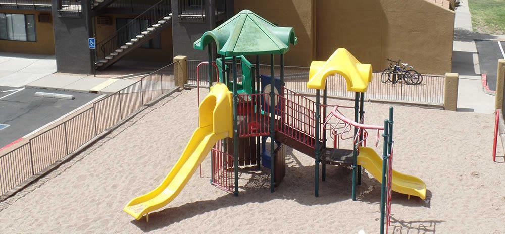 Playground at Vista Alegre apartments in Santa Fe