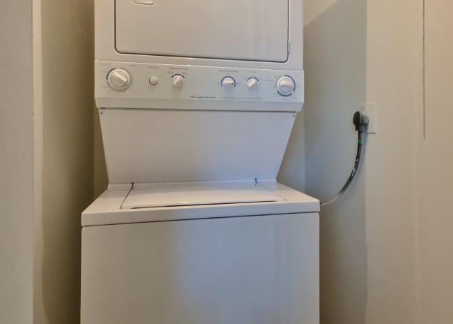 washer and dryer at Woodcrest Apartment Homes