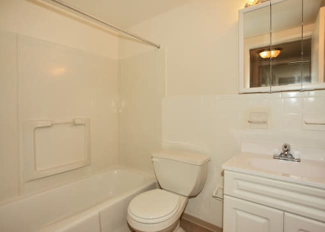 bathroom at Woodcrest Apartment Homes